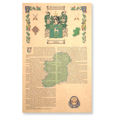 Coat of Arms and History Print