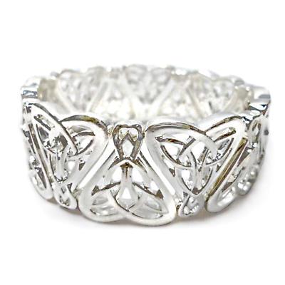 Celtic Bracelet - Celtic Heart Stretch Bracelet