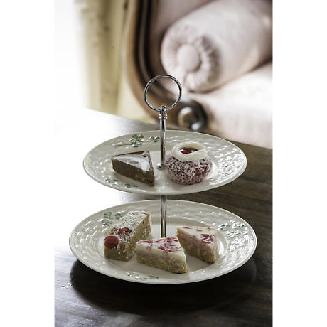 Belleek Shamrock Tiered Server