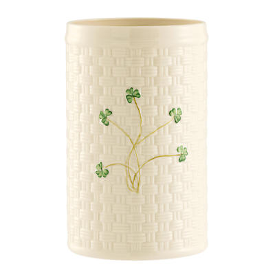 Belleek Shamrock Utensil / Bottle Holder