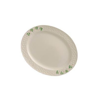 Belleek Shamrock Small Oval Platter