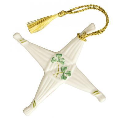 Irish Christmas - Belleek St. Brigid's Cross Ornament