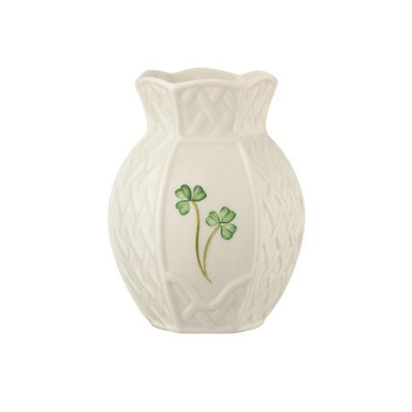 Belleek Shamrock Trellis Violet Vase