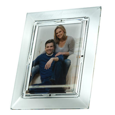 Galway Crystal Happy Anniversary 5 x 7 Photo Frame