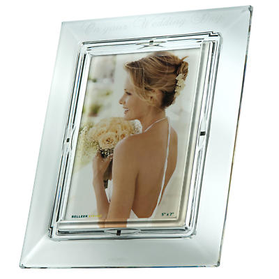 Galway Crystal On Your Wedding Day 5 x 7 Photo Frame