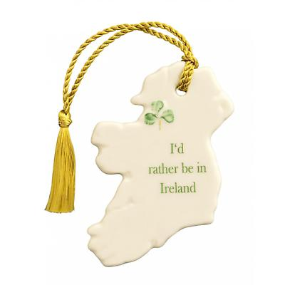 Irish Christmas - Belleek I'd Rather Be in Ireland Ornament