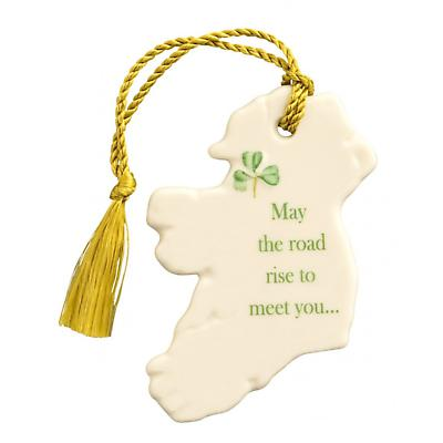 Irish Christmas - Belleek May the Road Rise to Meet You Ornament
