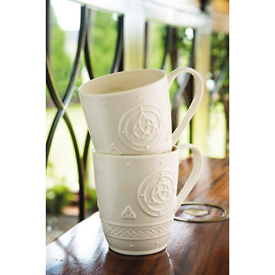 Belleek Celtic Mugs - Set of 2