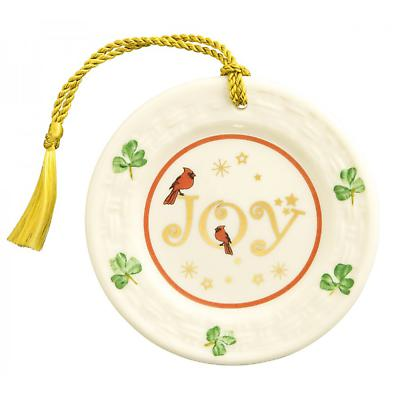 Irish Christmas - Belleek Joy Plate Ornament