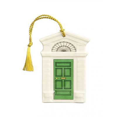 Irish Christmas - Belleek Georgian Green Door Ornament