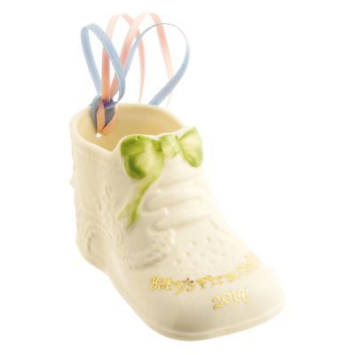Irish Christmas - Belleek Baby's First Christmas 2014 Ornament