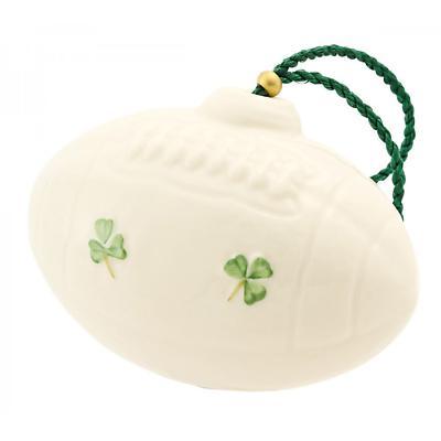 Irish Christmas - Belleek Rugby/Football Ornament