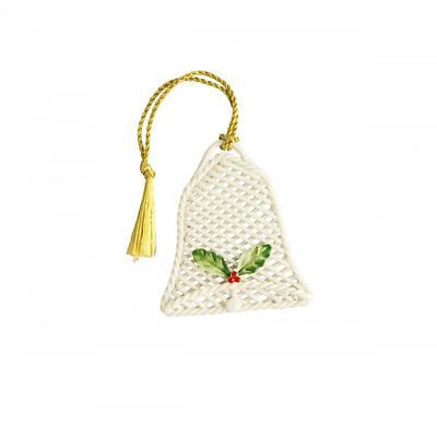 Irish Christmas - Belleek Basket Bell Ornament
