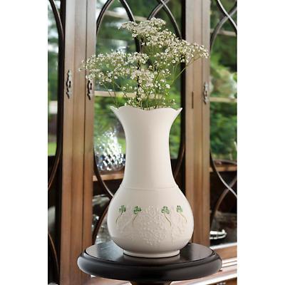"Belleek Shamrock Lace 10"" Vase"