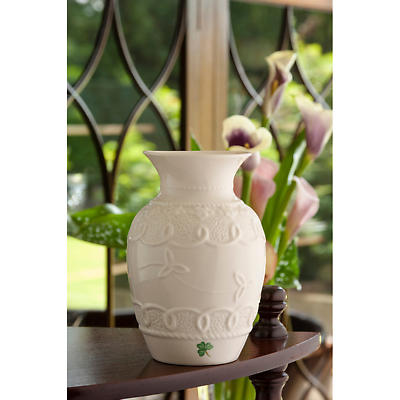 Belleek Celtic Lace Vase At Siopa Eirann