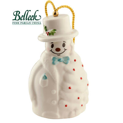 Irish Christmas - Belleek Snowman with Fir Tree Ornament