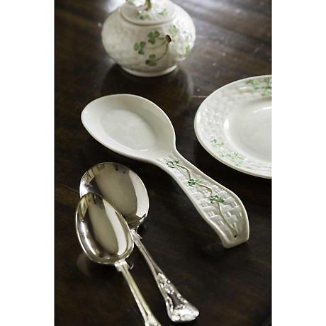 Belleek Shamrock Spoon Rest