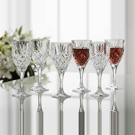 Galway Crystal Renmore Goblets - Set of 6