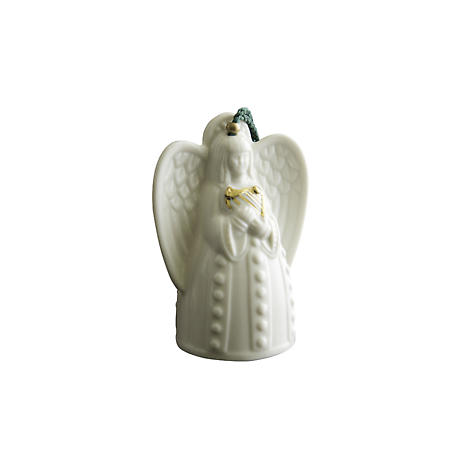 Irish Christmas - Belleek Angel with Harp Ornament