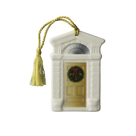 Irish Christmas - Belleek Georgian Doorway Ornament - Gold