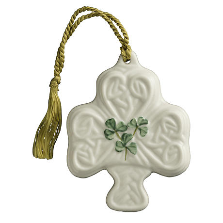 Irish Christmas - Belleek Shamrock Puff Ornament