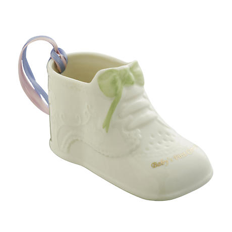 Irish Christmas - Belleek Baby's First Christmas Ornament