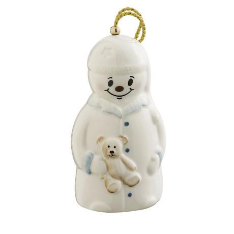 Irish Christmas - Belleek Night Before Christmas Snowman Ornament