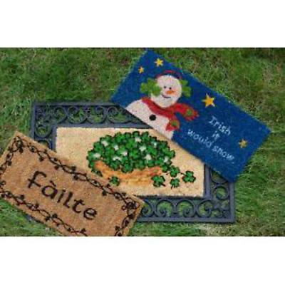 """Irish """"Change It Up"""" Seasonal Door Mat"""