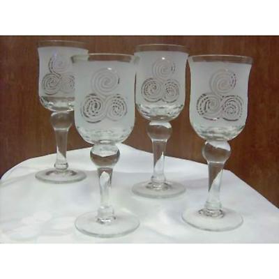 Celtic Triskele Glasses - Set of 4