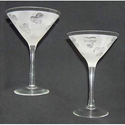 Celtic Triskele Martini Glasses - Set of 2