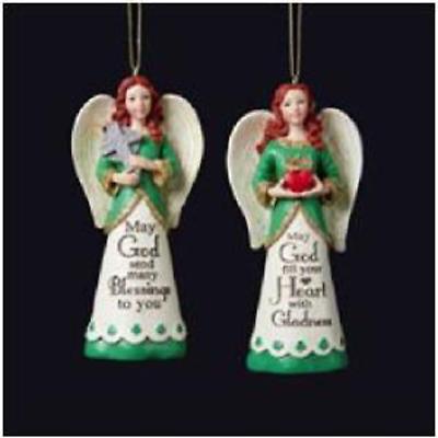 Irish Christmas - Irish Angel Ornaments - Set of 2