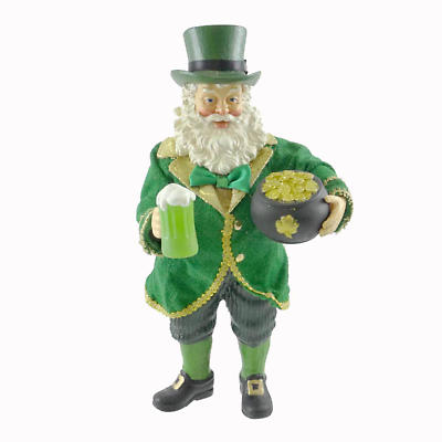 Irish Christmas - Something Cold Something Gold Santa Figurine