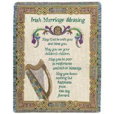 Irish Marriage Blessing Throw