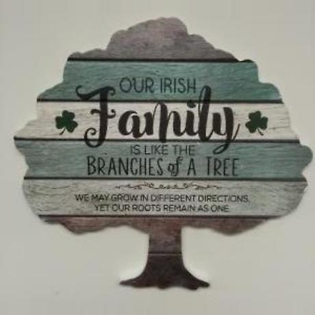 Irish Family Tree Wood Pallet Plaque