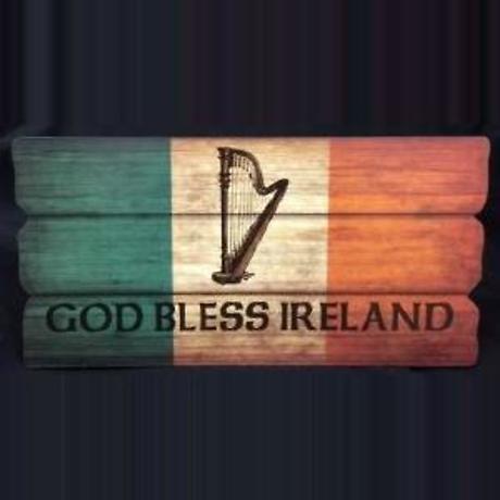 God Bless Ireland Plaque