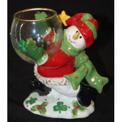 Irish Christmas - Irish Snowman Tealight Holder
