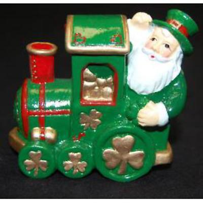 Irish Christmas - Shamrock Santa Train Ornament