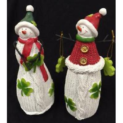 Irish Christmas - Irish Himself and Herself Snowman Set of 2