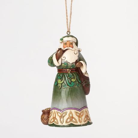 Irish Christmas - Celtic Irish Santa Ornament