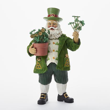 Irish Christmas - Musical Emerald Splendor Santa