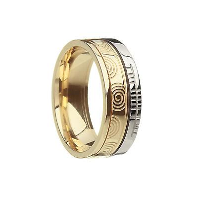 "Irish Rings - Comfort Fit ""Faith"" Newgrange Wedding Band"