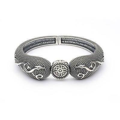 Celtic Bracelet - Antiqued Sterling Silver Celtic Cross Irish Bracelet