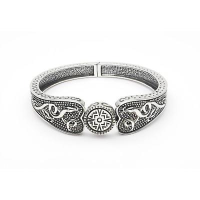 Celtic Bracelet - Oxidized Sterling Silver Antiqued Celtic Warrior Irish Bracelet - Wide