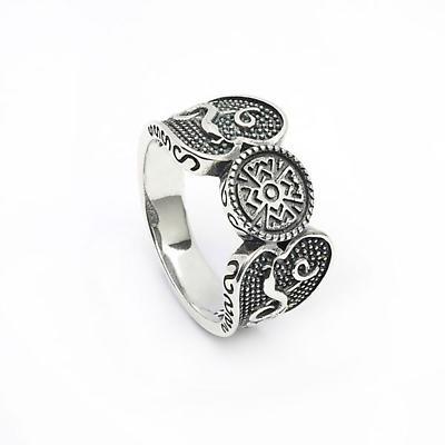 Celtic Ring - Antiqued Sterling Silver Celtic Warrior Irish Ring