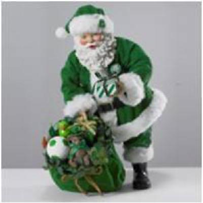 Irish Christmas - Musical Irish Santa with Toy Bag