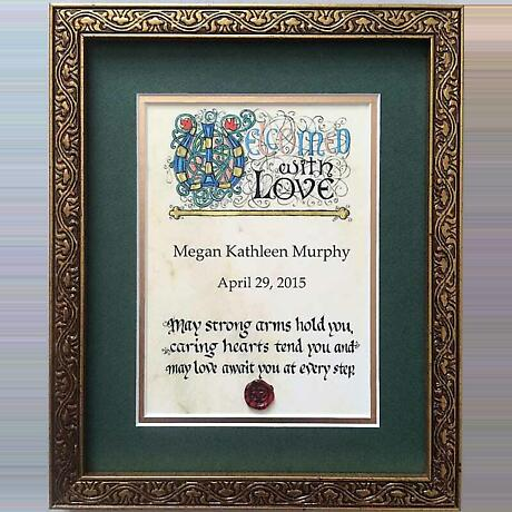 Personalized Irish Baby Blessing Framed Print