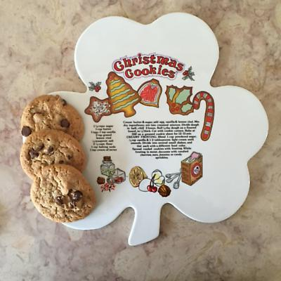 Irish Christmas - Shamrock Tray with Christmas Cookie Recipe