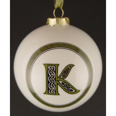 Irish Ornament - Letter Ball Ornaments