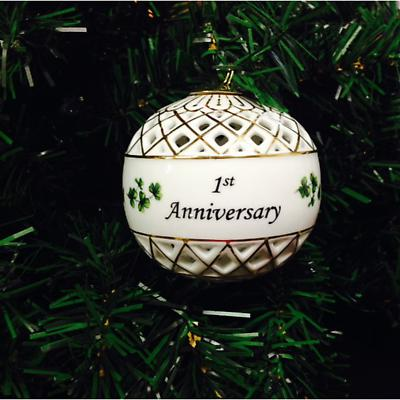 Irish Ornament - 1st Anniversary Ornament