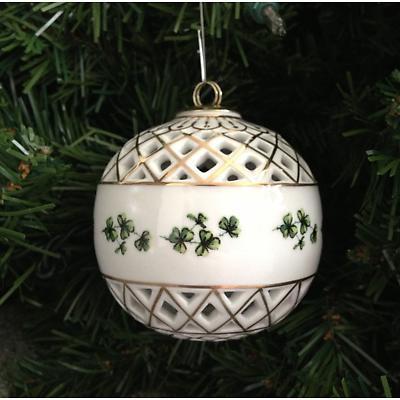 Irish Christmas Ornament - Shamrock Ball Ornament